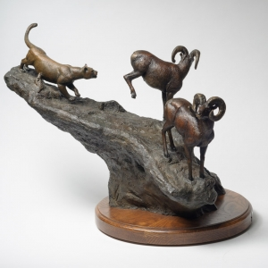 gibson_jack_17x28x40_cast_bronze_cougar_hunting_bighorn_rams_pursuit_ed_of30_01