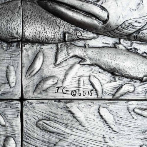 Gibson_Jack_24x48_kings_prey_2_coho_and_chinook_salmon_G-composite_tiles_pewter_patina_17